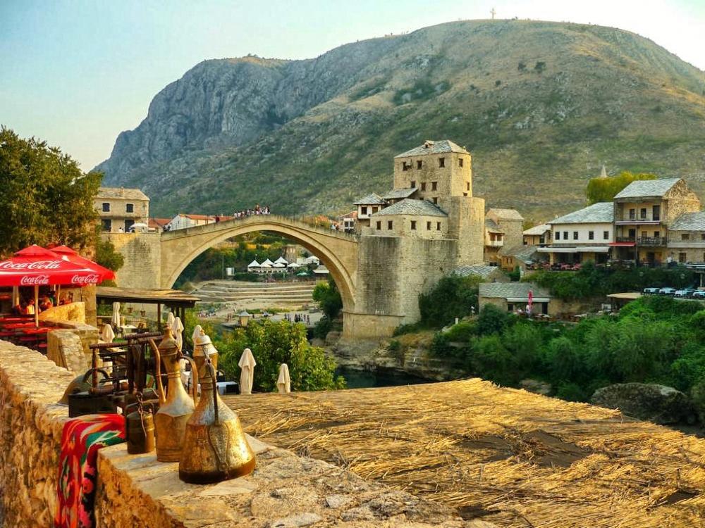 Die legendaere Bruecke von Mostar, Bosnien & Herzegowina