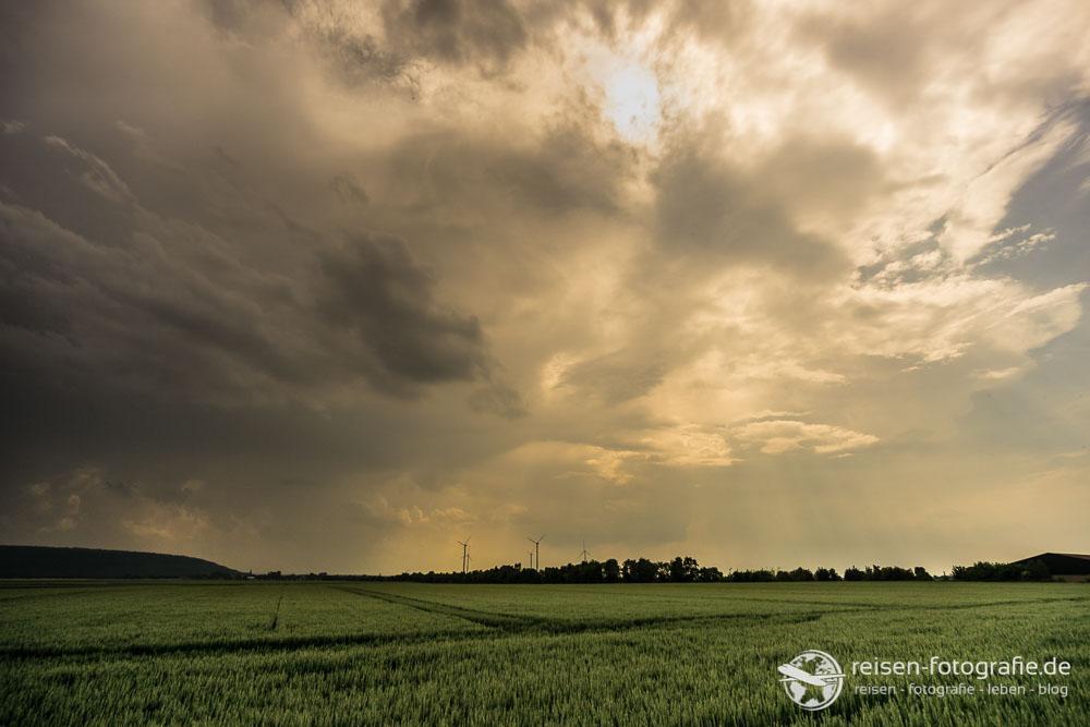 Aufziehendes Gewitter im Rheinland