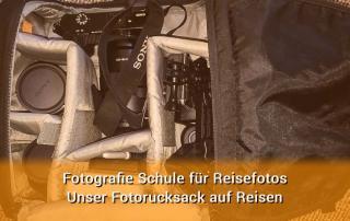 Packliste Fotorucksack auf Reisen