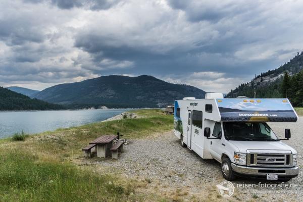 Campground am Koocanusa Lake
