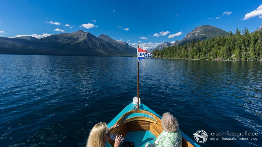 Bootsfahrt im Glacier National Park