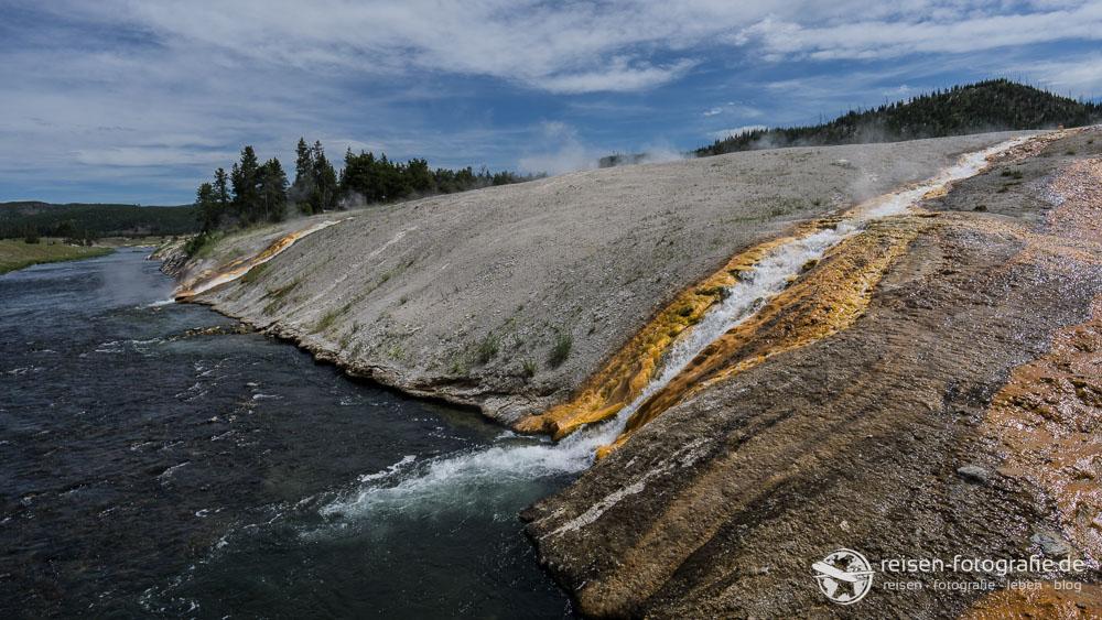 Wasserfälle in den Firehole River