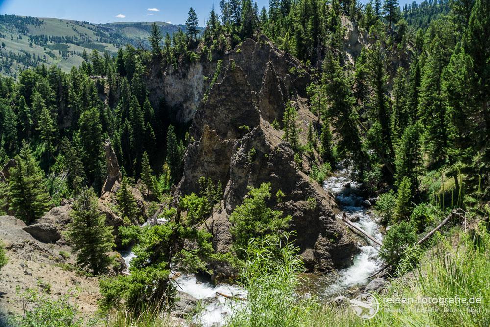 Yellowstone River bei den Tower Falls