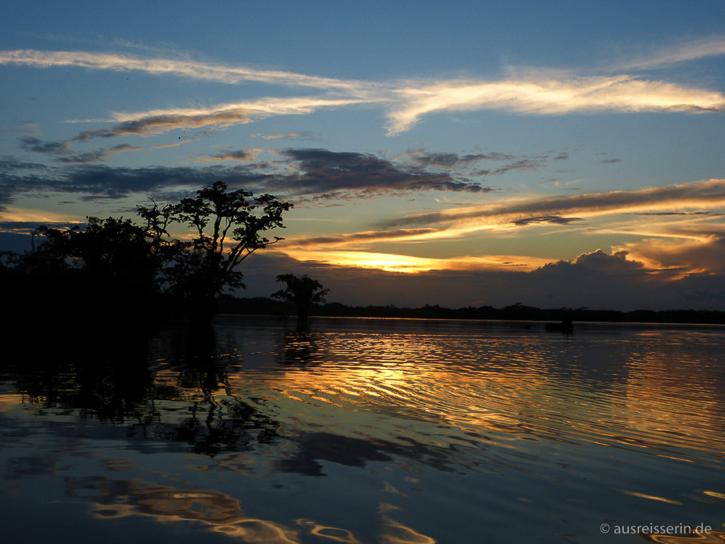 Abends haben wir den Sonnenuntergang über der Laguna Grande genossen.