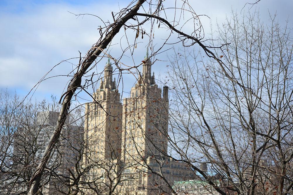 The San Remo (Luxus-Apartmentgebäude der Upper West Side) vom Central Park aus gesehen