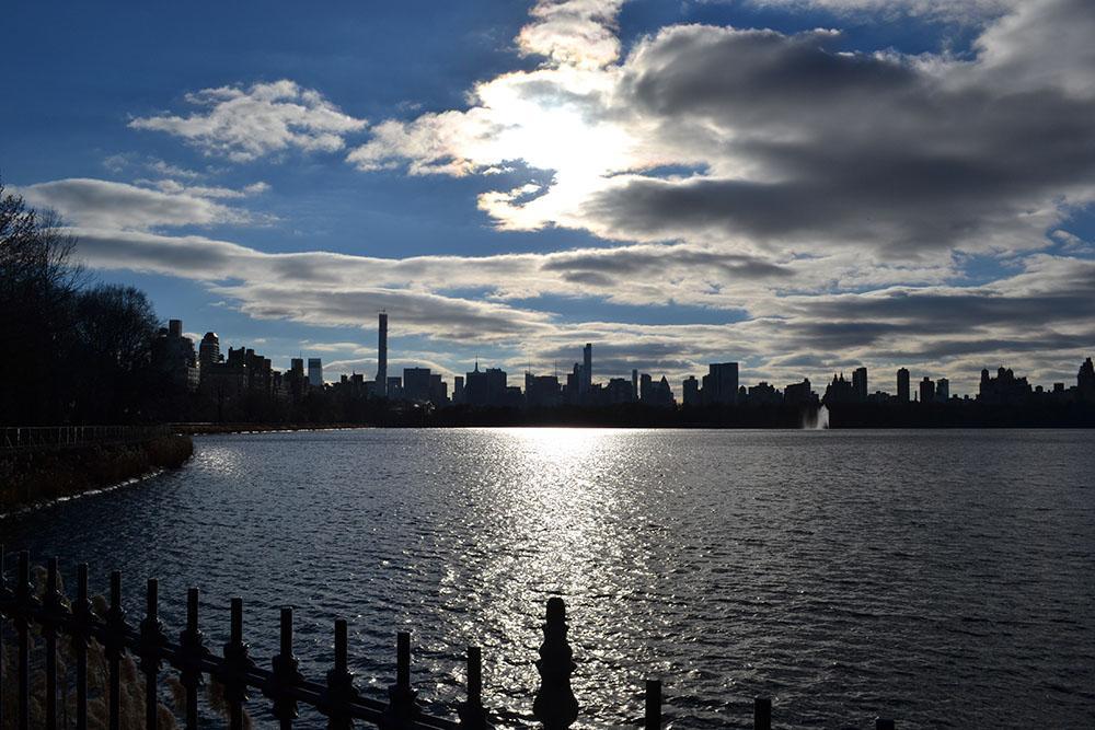 Blick über den See im Central Park (Richtung Downtown)