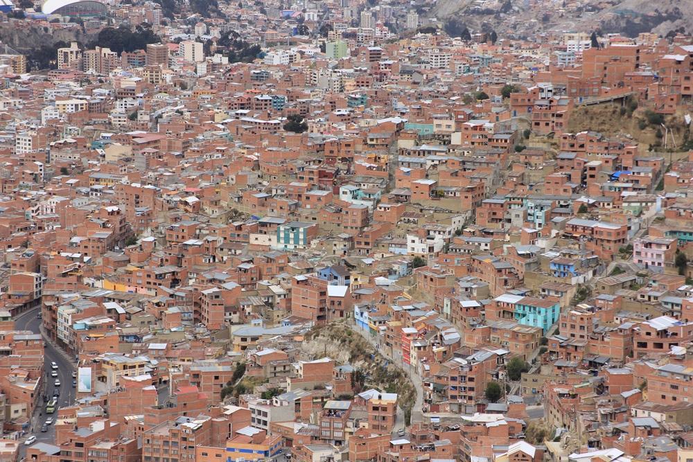 Häuserschluchten in La Paz.