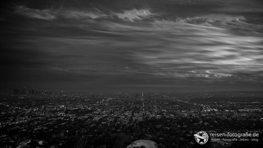LA Sunset in schwarz/weiß