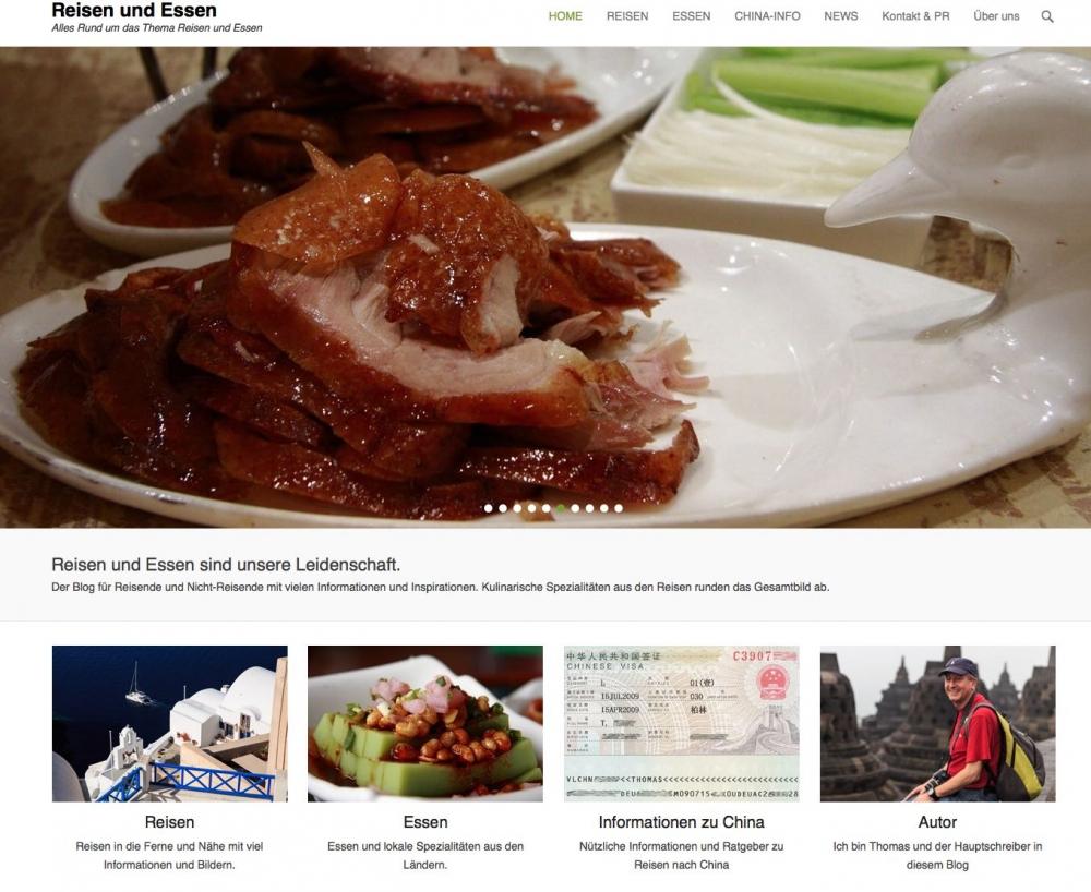 Reisen und Essen Blog