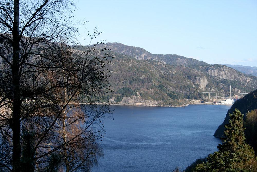 Blick auf den Fedafjord