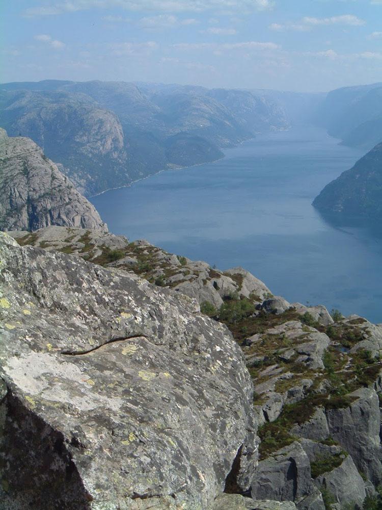 Blick vom Priesterstuhl in den Lysefjord