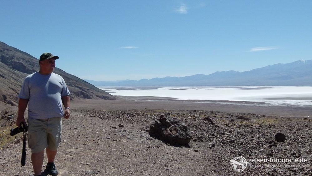 Der Salzsee im Death Valley - fast 86 Meter unter dem Meeresspiegel