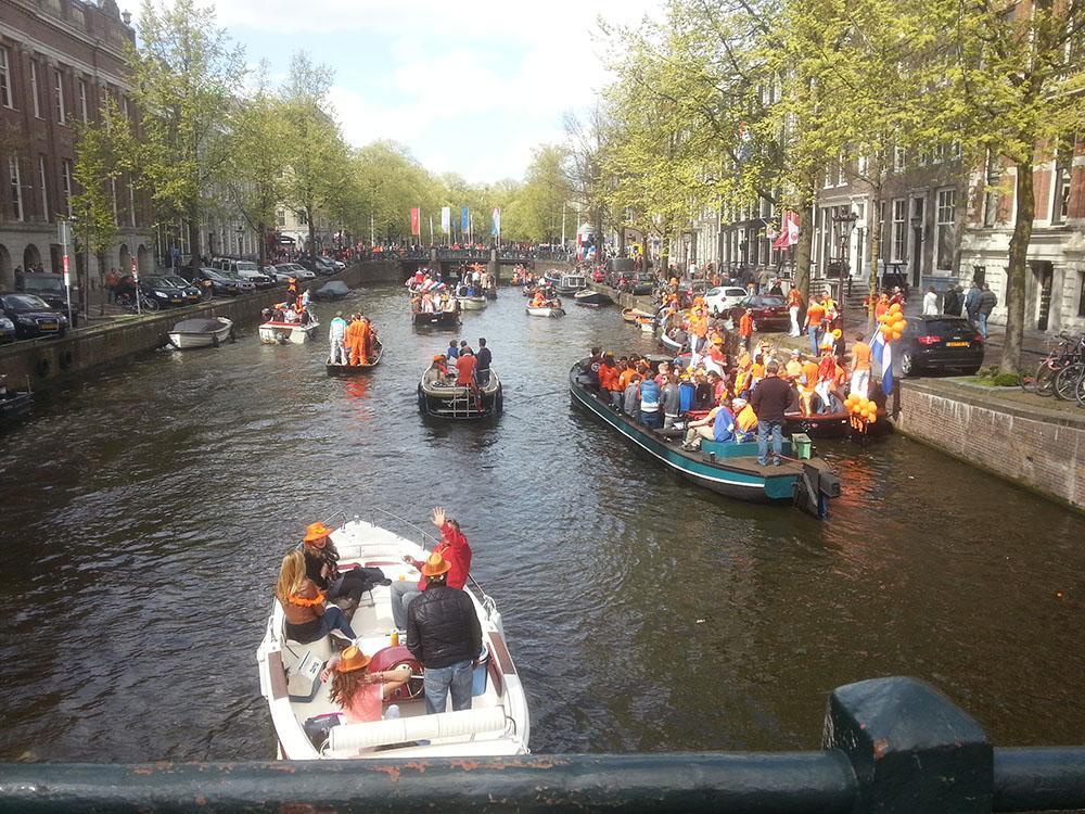 Boote am Königinnentag