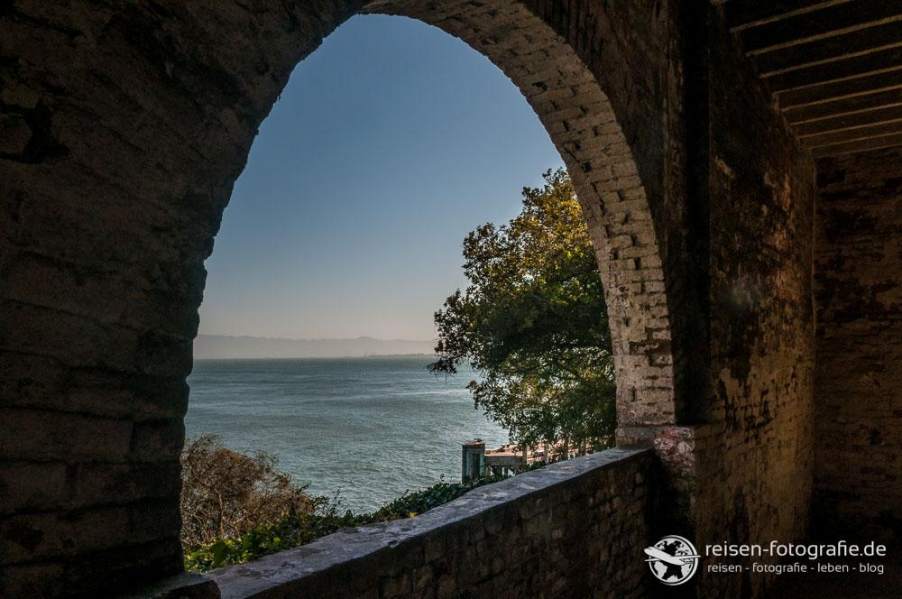 Blick von Alcatraz in die Bucht von San Francisci