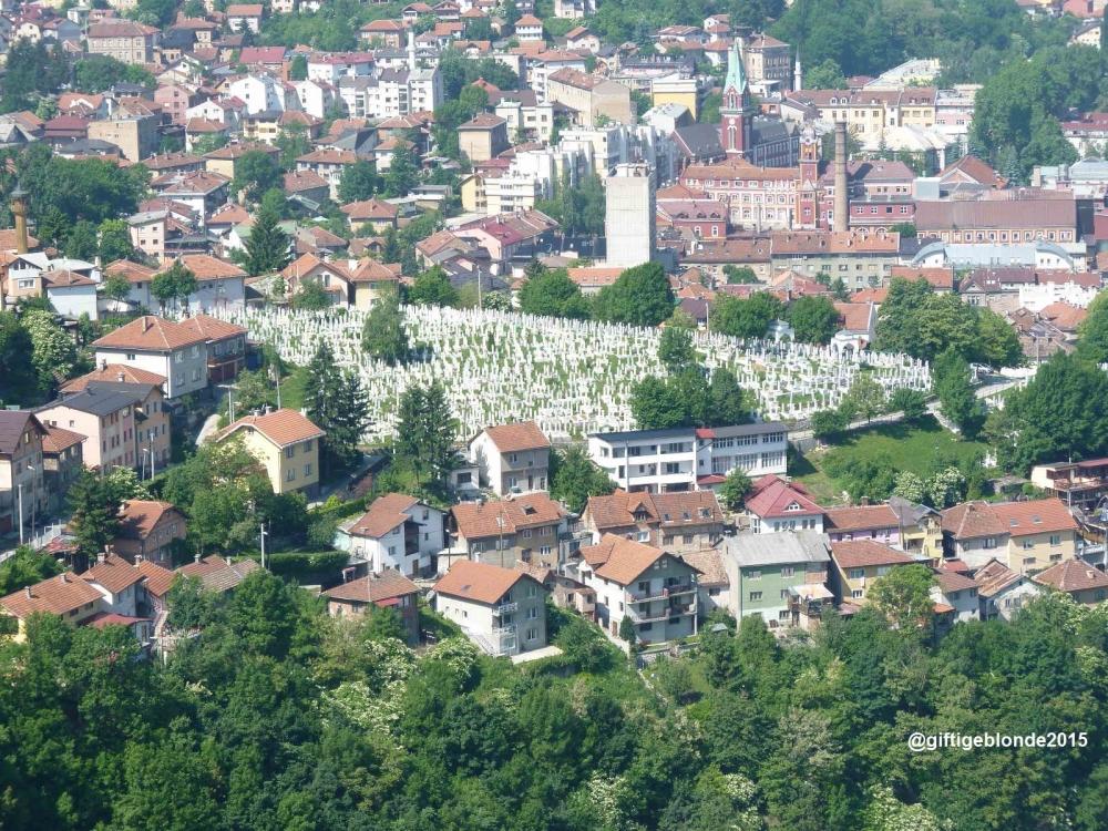 Sarajevo von der Bijela tabija aus gesehen