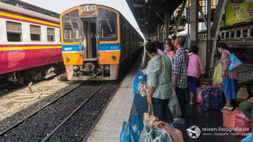 Unser Zug nach Ayutthaya