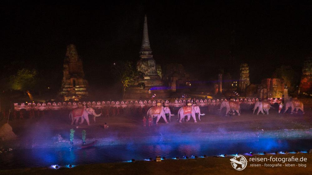 Elefanten in der Schlacht um Ayutthaya
