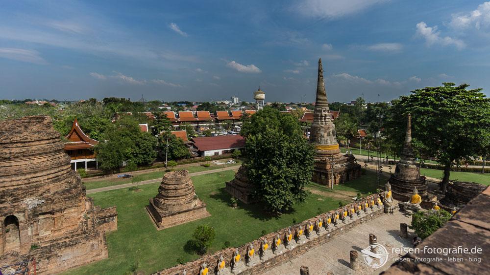 Blick über Ayutthaya