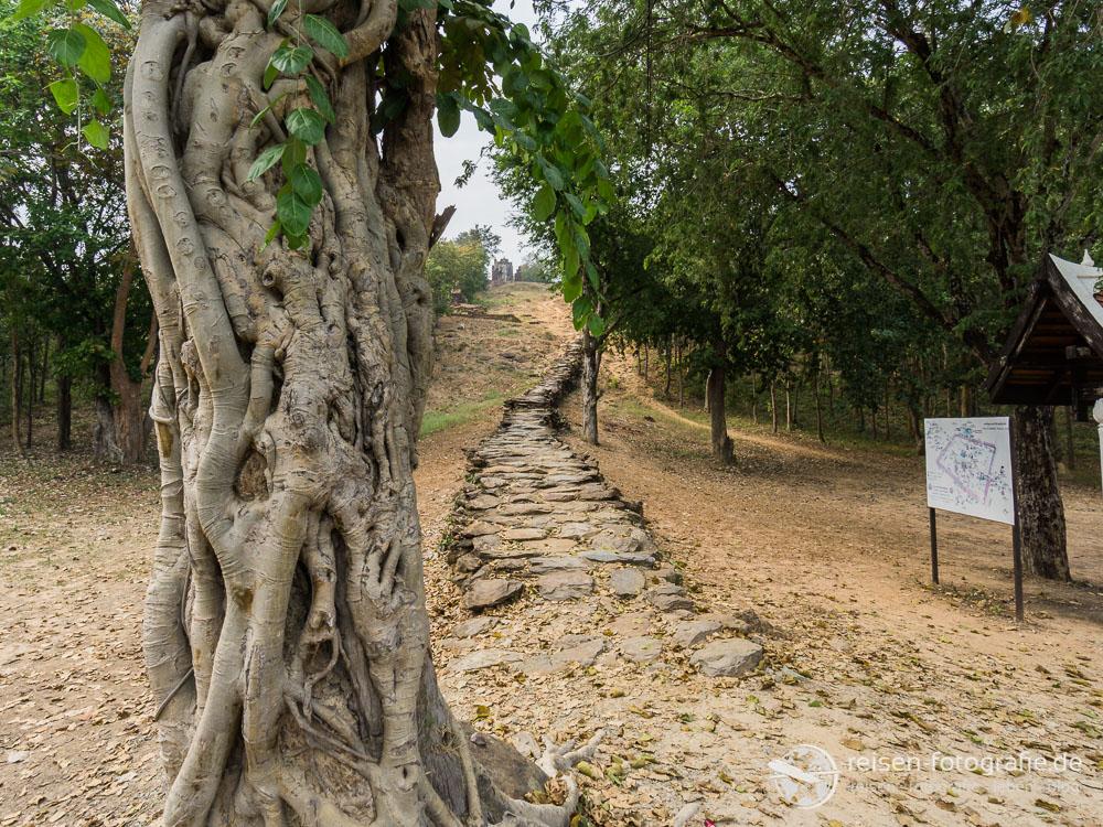 Weg zum Wat Saphan Hin