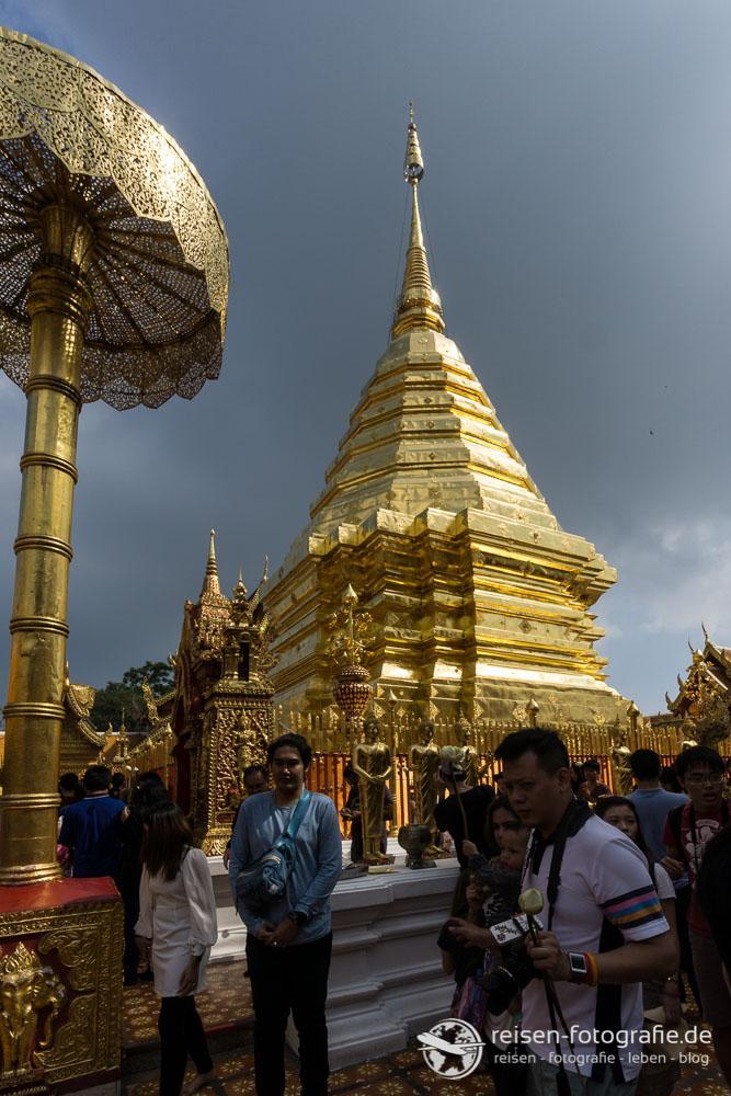 Der goldene Chedi von Chiang Mai