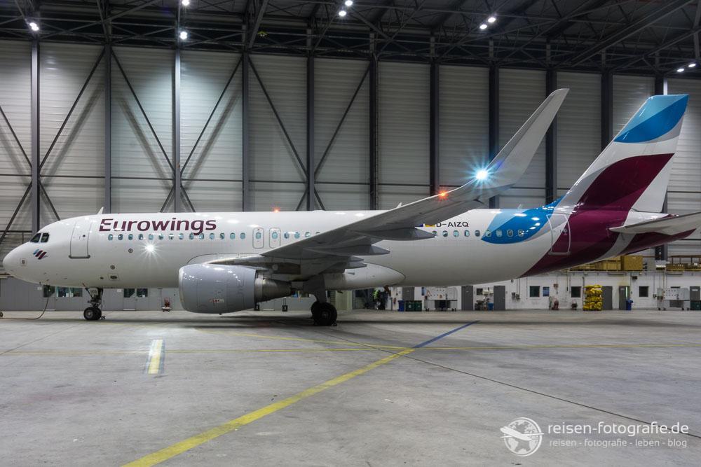 Unser Fotomotiv des Abend - ein Airbus A320
