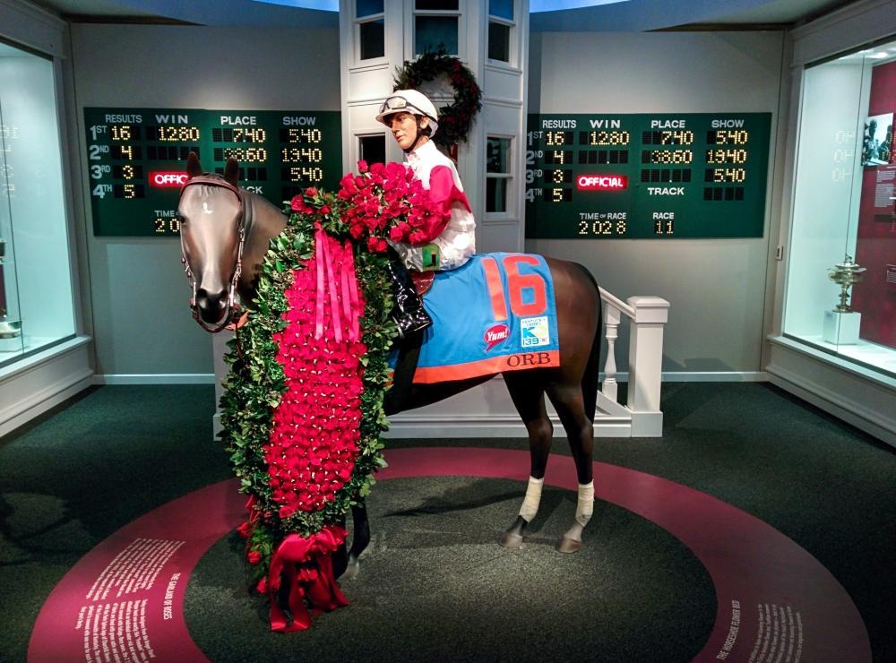 Das Bild zeigt das Gewinner-Pferd des Kentucky Derby vom Jahre 2013, welches ich live miterleben konnte