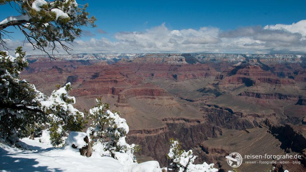 Schnee am Grand Canyon