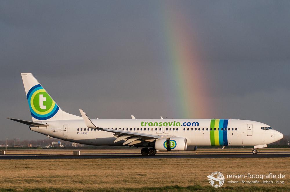 Regenbogen in Amsterdam