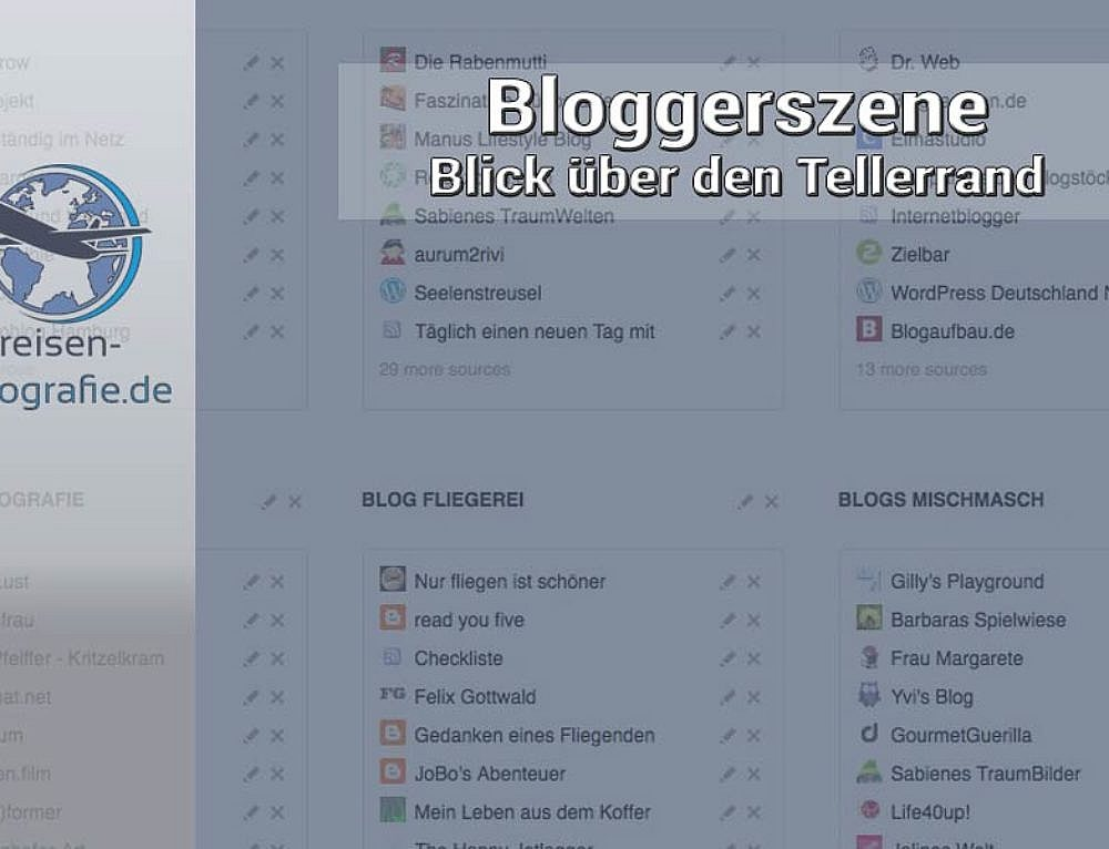 Die Bloggerszene – Blick über den Tellerrand #5/2016