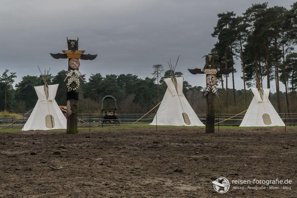 Nordamerika - klar, mit Indianern