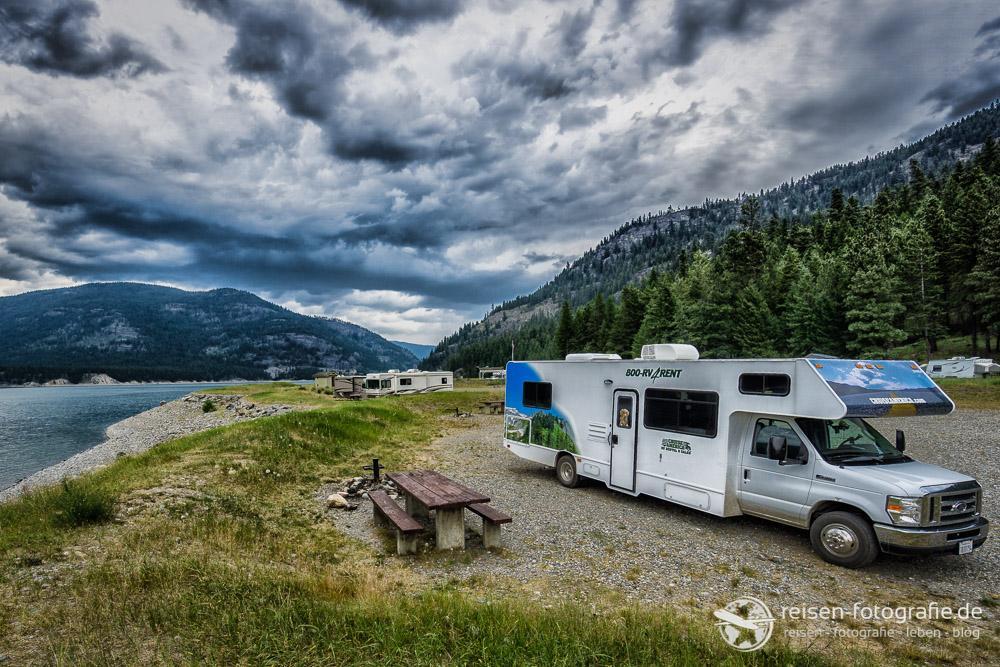 Campground am Canusalake - wolkig aber warm