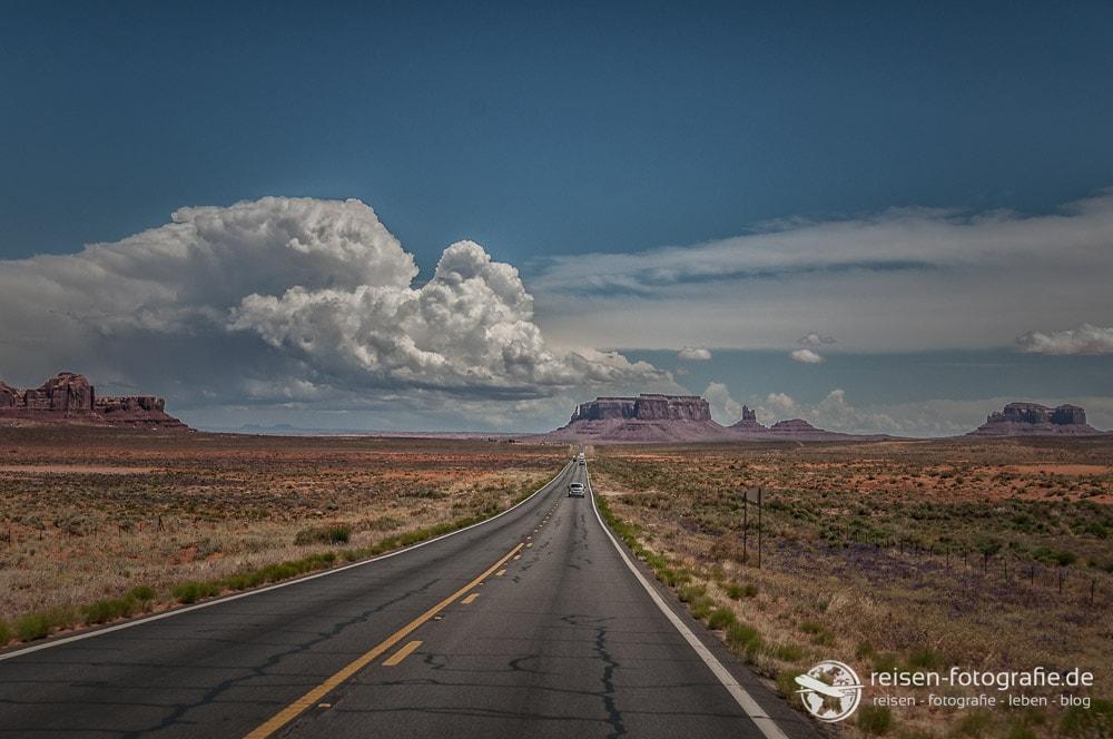 Zufahrt ins Monument Valley