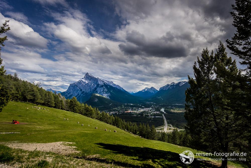 Aussicht auf den Ort Banff