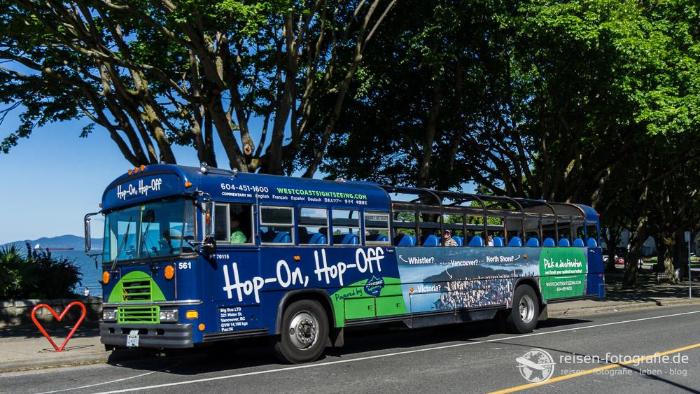 Vancouver Sehenswürdigkeiten mit dem Hop-On-Hop-Off Bus