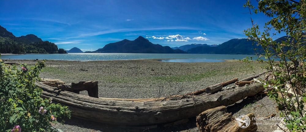 Porteau Cove Provincial Park: Aussicht auf das Fjord