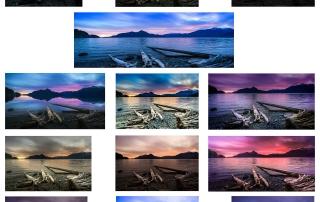Alle Varianten von Bild 2 im Vergleich