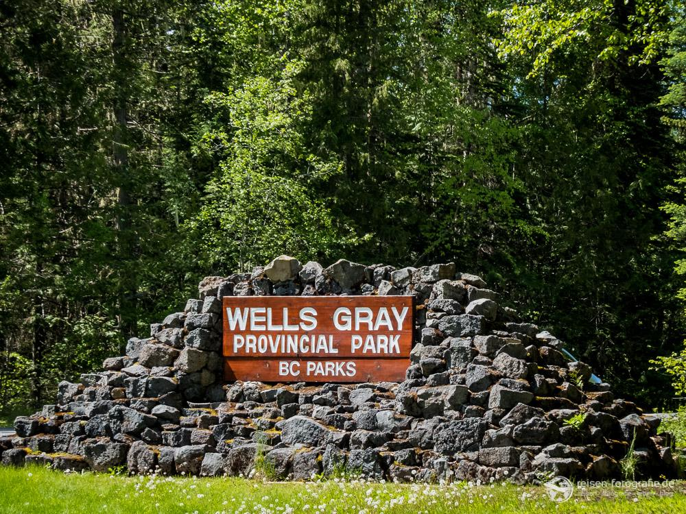 Einfahrt zum Wells Gray Provincial Park
