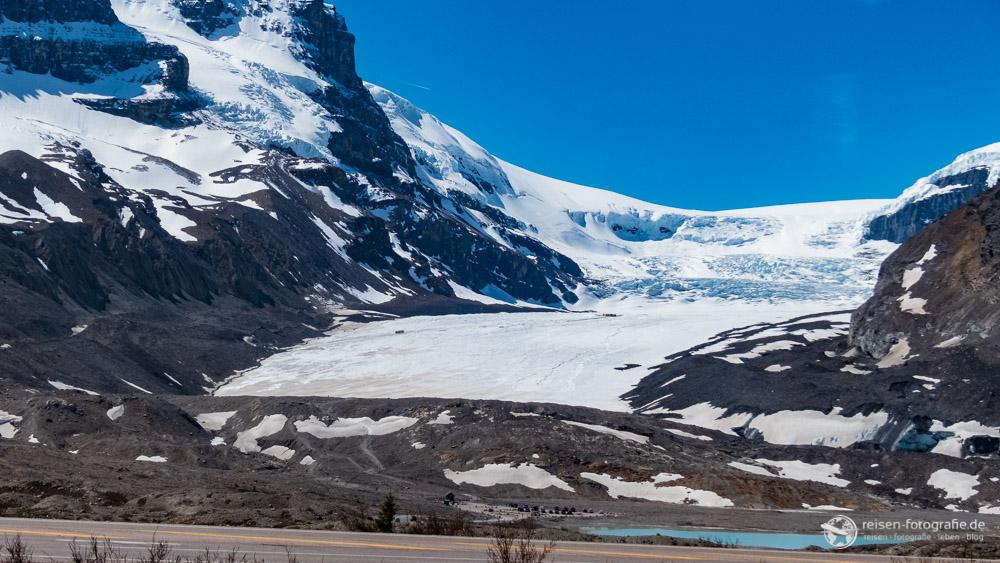 Blick auf das Columbia Icefield