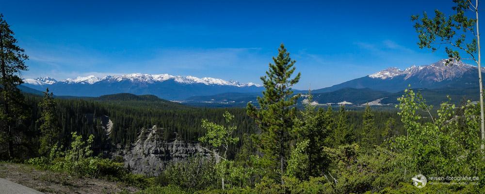 Ausblick über den Jasper National Park
