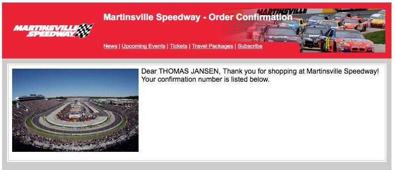 Martinsville Tickets Order