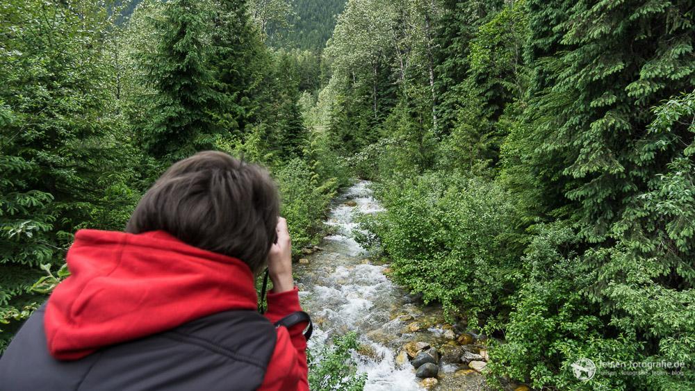 Fotos machen auf dem Trail