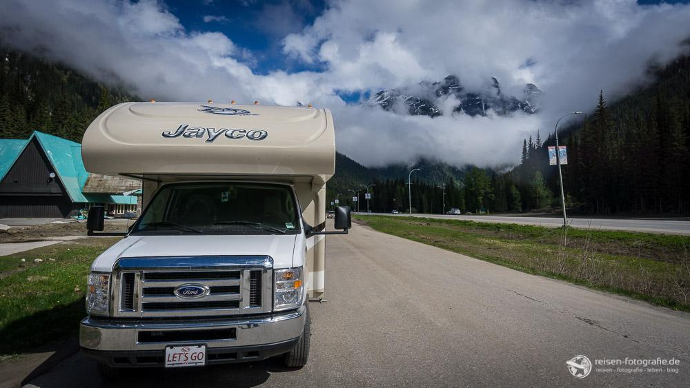 Pause auf dem Rogers Pass