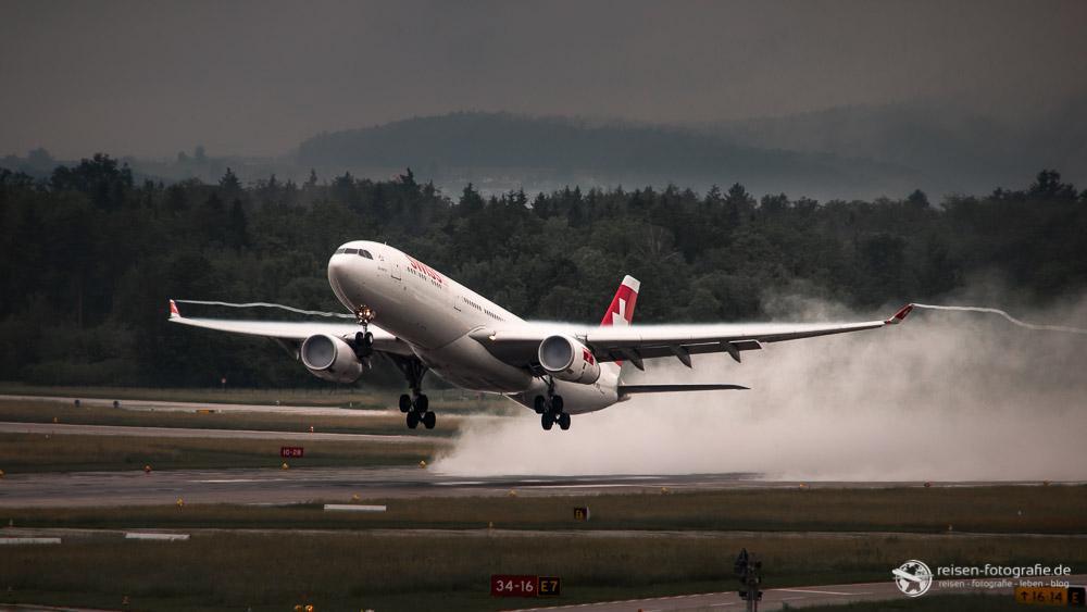Swiss im Regen - Fertig