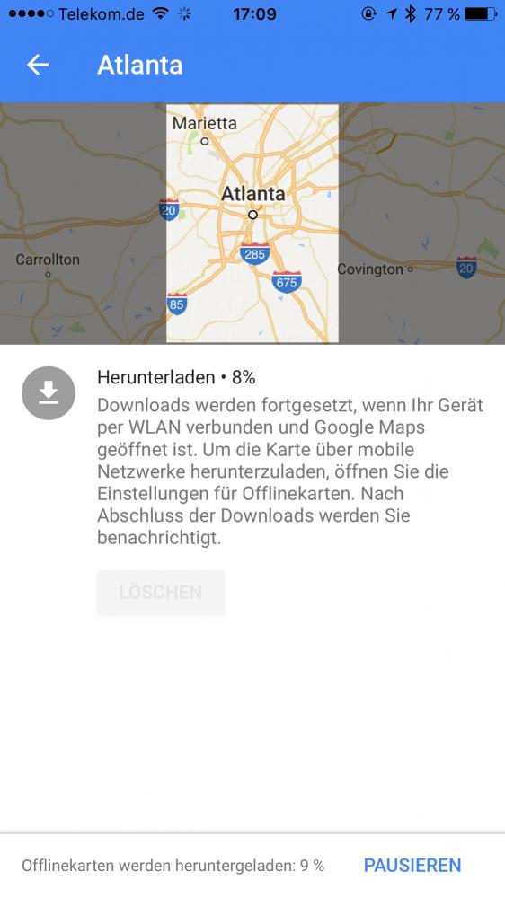 Download der Karte