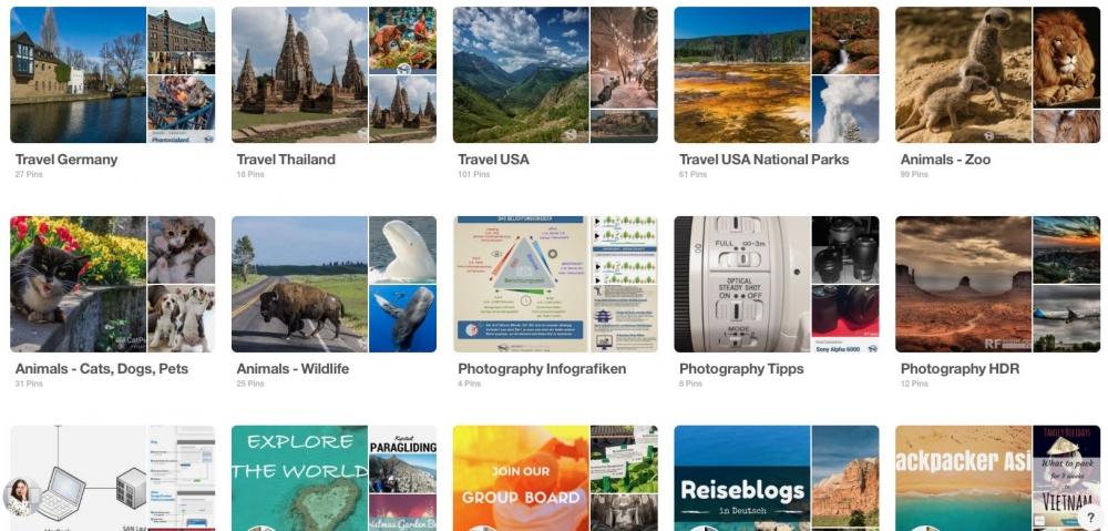 Unsere Pinnwände bei Pinterest