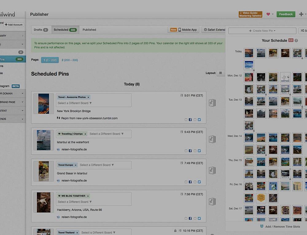 Pinterest für Reiseblogger