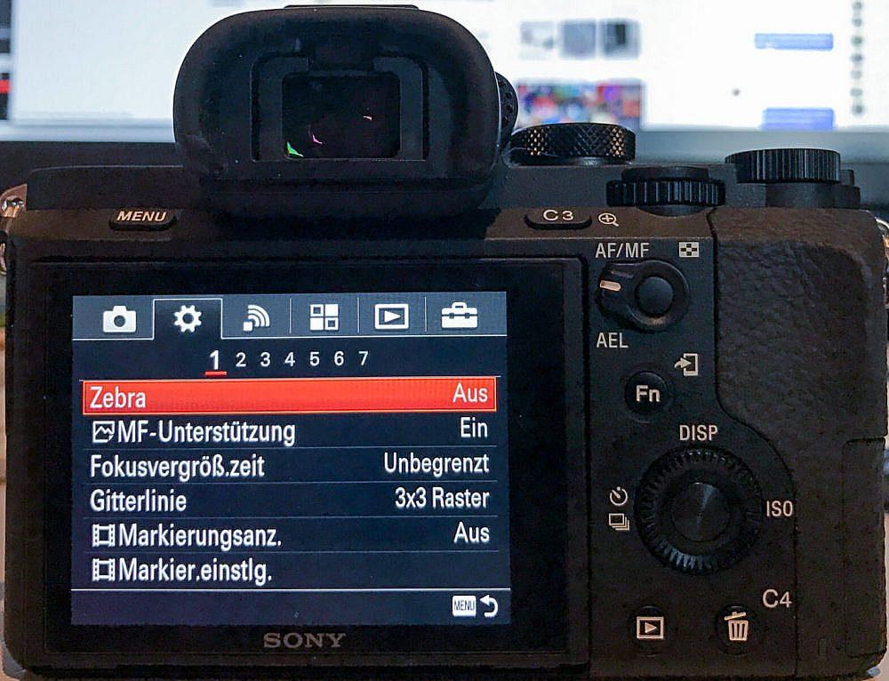 Optimale Grundeinstellung Sony Alpha 7 II für unsere Fotos