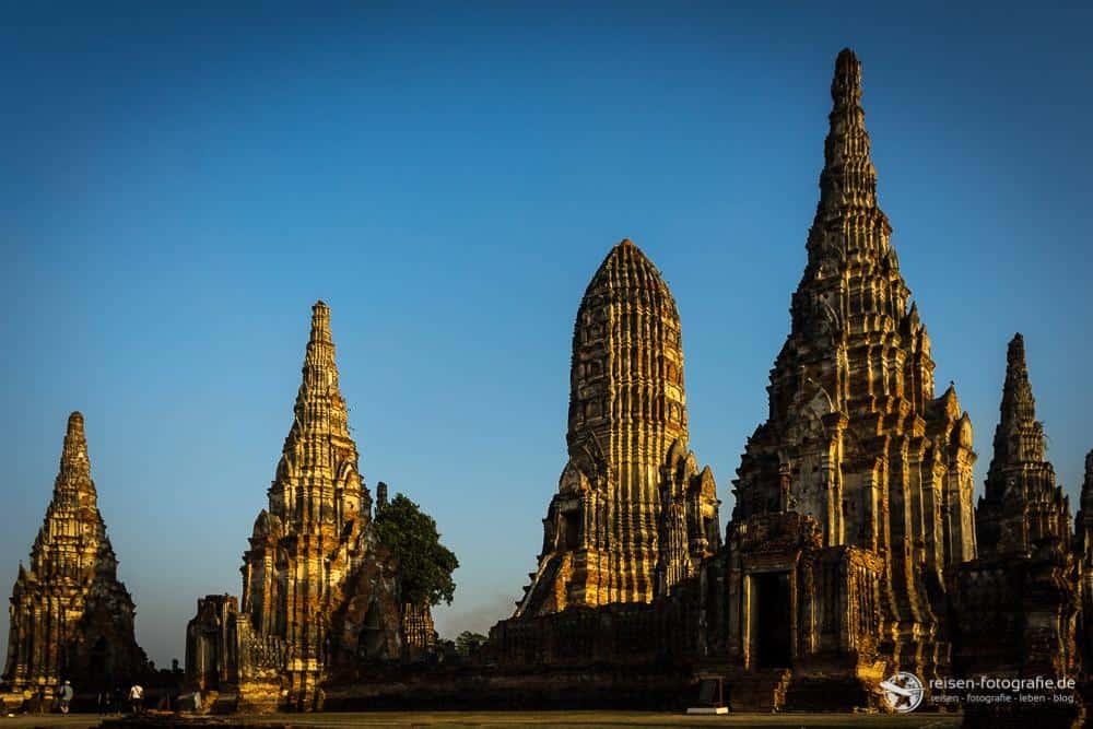 Dämmerung in Ayutthaya