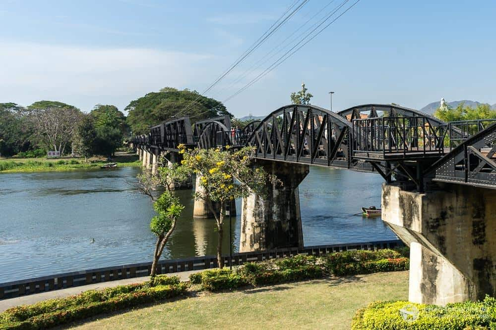 Die Brücke am Kwai in Kanchanaburi