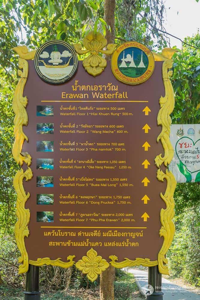 Wege zu den sieben Stufen der Wasserfälle